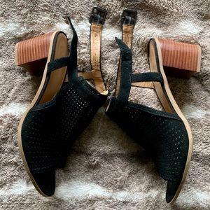 Black Suede Franco Sarto Harlet 2 Heels